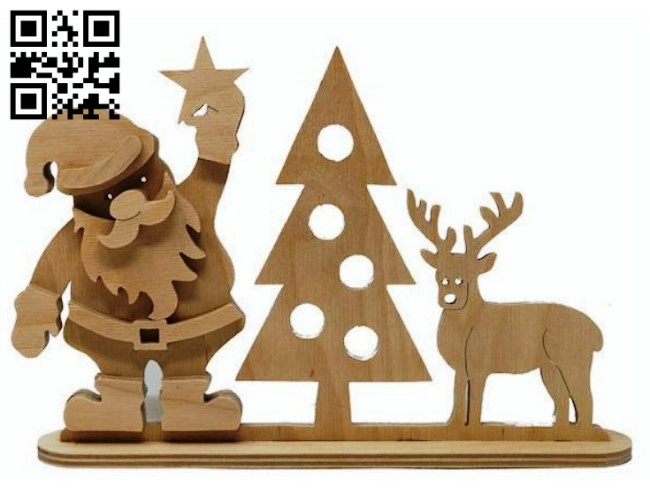 Christmas E0015149 file cdr and dxf free vector download for laser cut