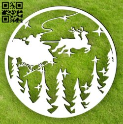 Christmas scene E0015208 file cdr and dxf free vector download for laser cut plasma