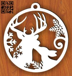Christmas toy wall decor E0015115 file cdr and dxf free vector download for laser cut plasma