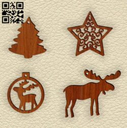 Christmas toys E0015102 file cdr and dxf free vector download for laser cut