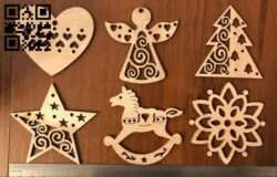 Christmas toys E0015103 file cdr and dxf free vector download for laser cut