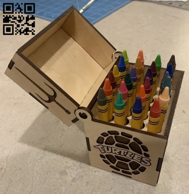 Crayon box E0015107 file cdr and dxf free vector download for laser cut