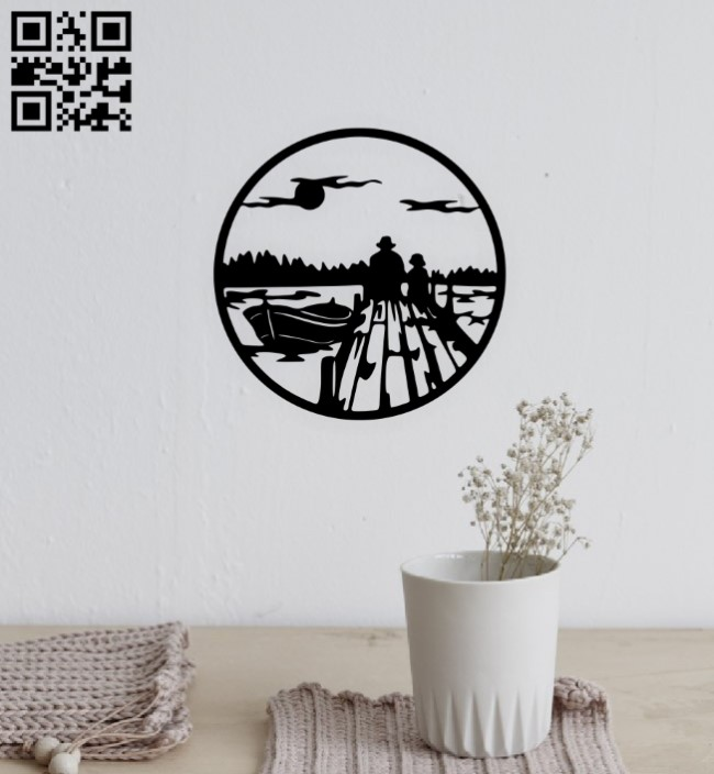 Dawn wall decor E0015198 file cdr and dxf free vector download for laser cut plasma