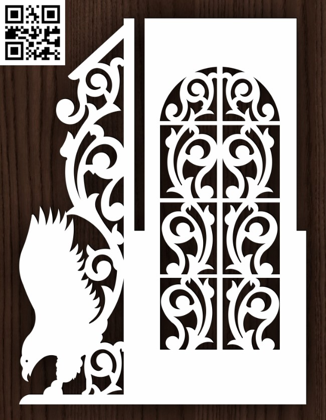 Design pattern door E0015186 file cdr and dxf free vector download for laser cut cnc