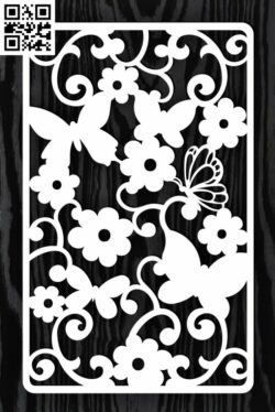 Design pattern screen panel E0015181 file cdr and dxf free vector download for laser cut cnc