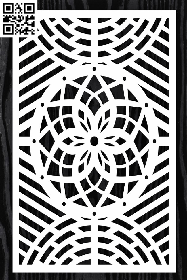 Design pattern screen panel E0015182 file cdr and dxf free vector download for laser cut cnc