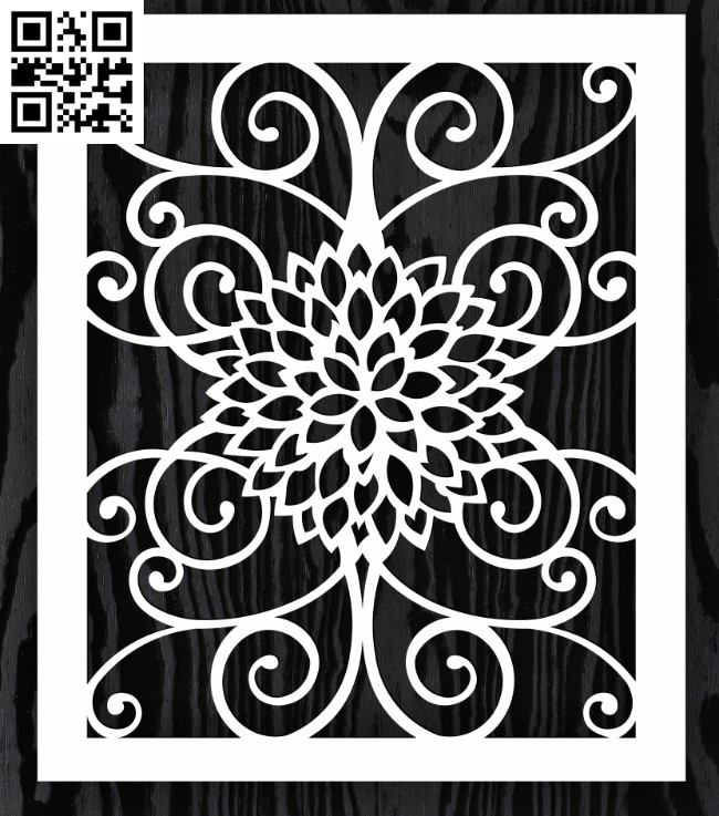 Design pattern screen panel E0015185 file cdr and dxf free vector download for laser cut cnc