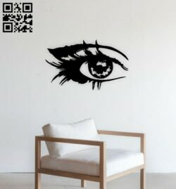 Eye wall decor E0015111 file cdr and dxf free vector download for laser cut plasma