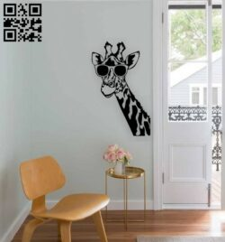 Giraffe wall decor E0015205 file cdr and dxf free vector download for laser cut plasma