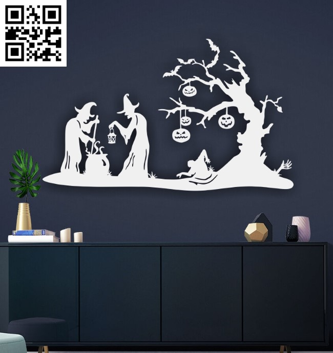 Happy Halloween E0015172 file cdr and dxf free vector download for laser cut plasma