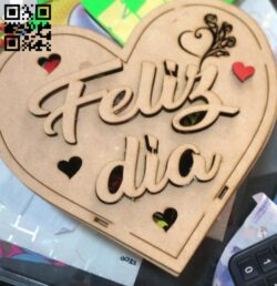 Heart box E0015146 file cdr and dxf free vector download for laser cut