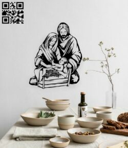 Holy family E0015141 file cdr and dxf free vector download for laser engraving machine