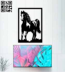 Horse panel E0015170 file cdr and dxf free vector download for laser cut plasma