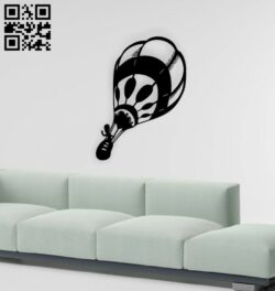 Hot air balloon wall decor E0015114 file cdr andd xf free vector download for laser cut plasma