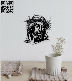 Jesus Christ wall decor  E0015085 file cdr and dxf free vector download for laser cut plasma