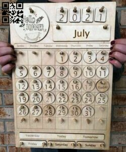 Kid calendar E0015121 file cdr and dxf free vector download for laser cut