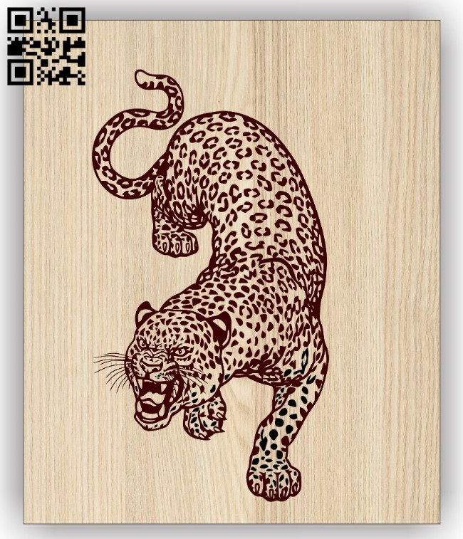 Leopard E0015139 file cdr and dxf free vector download for laser engraving machine