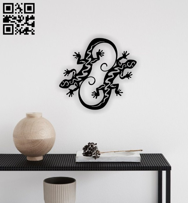 Lizards wall decor E0015084 file cdr and dxf free vector download for laser cut plasma