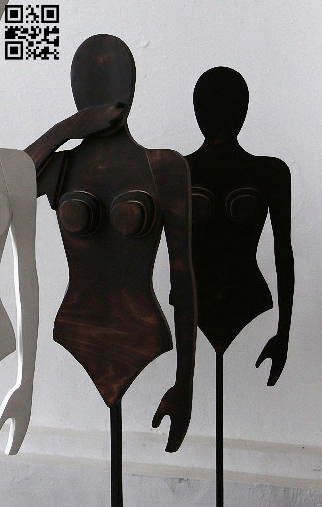 Mannequin E0015101 file cdr and dxf free vector download for laser cut