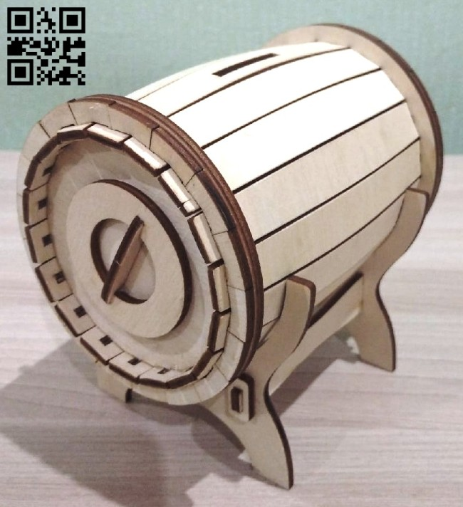 Money bank E0015098 file cdr and dxf free vector download for laser cut