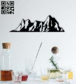 Mountain E0015165 file cdr and dxf free vector download for laser cut plasma
