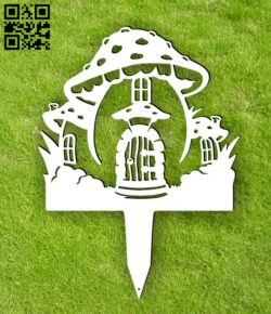 Mushroom stakes garden yard E0015087 file cdr and dxf free vector download for laser cut plasma
