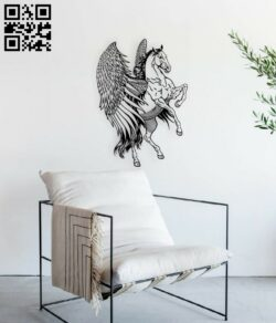 Pegasus E0015138 file cdr and dxf free vector download for laser engraving machine