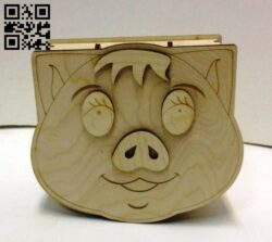 Piggy bank E0015144 file cdr and dxf free vector download for laser cut