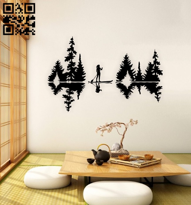 Rowing wall decor E0015113 file cdr and dxf free vector download for laser cut plasma