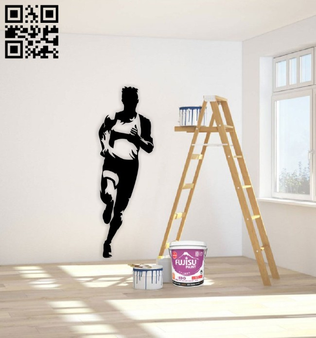 Running E0015089 file cdr and dxf free vector download for laser cut plasma