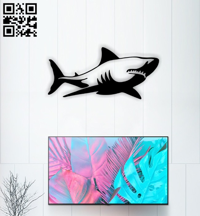 Shark E0015088 file cdr and dxf free vector download for laser cut plasma