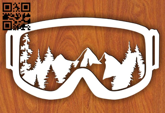 Snow goggle E0015093 file cdr and dxf free vector download for laser cut plasma