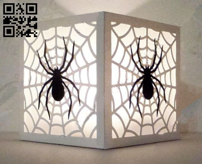 Spider light box E0015108 file cdr and dxf free vector download for laser cut