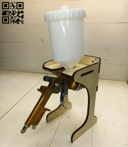 Spray gun stand E0015142 file cdr and dxf free vector download for laser cut