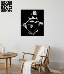 Superman E0015133 file cdr and dxf free vector download for laser cut plasma