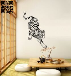 Tiger E0015137 file cdr and dxf free vector download for laser engraving machine
