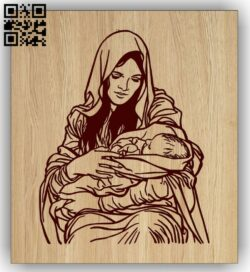Virgin Mary E0015188 file cdr and dxf free vector download for laser engraving machine