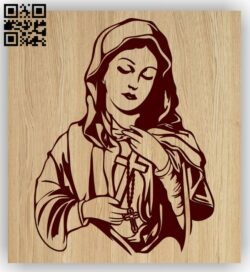 Virgin Mary E0015189 file cdr and dxf free vector download for laser engraving machine
