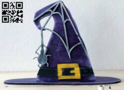 Witch hat E0015124 file cdr and dxf free vector download for laser cut