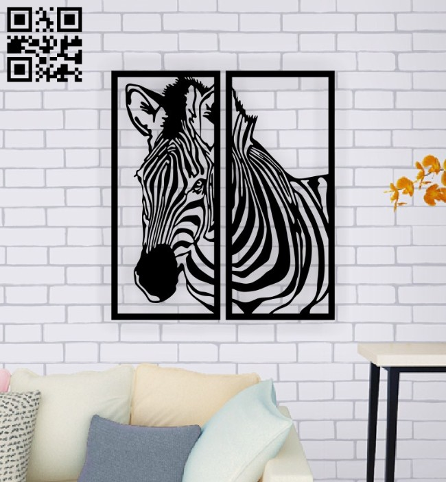 Zebra panel E0015117 file cdr and dxf free vector download for laser cut plasma