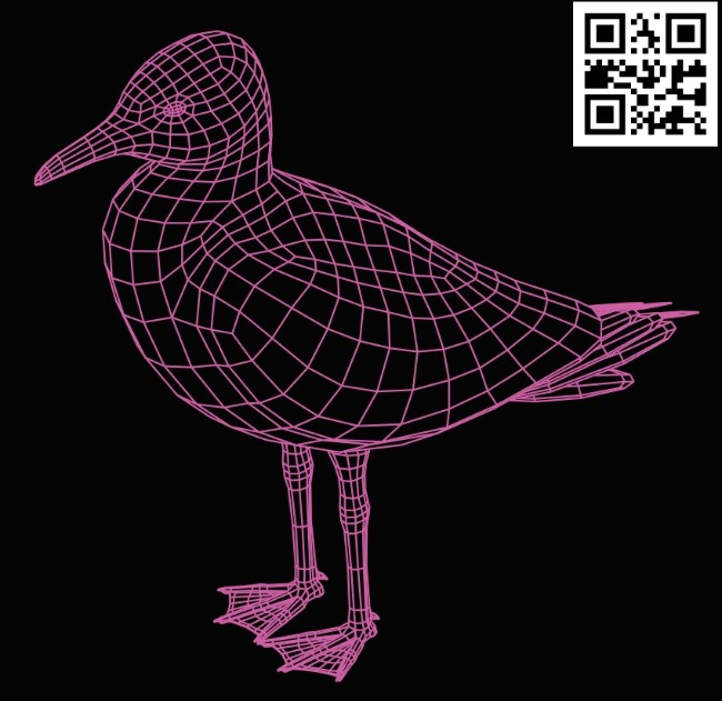 3D illusion led lamp Albatross E0015284 file cdr and dxf free vector download for laser engraving machine