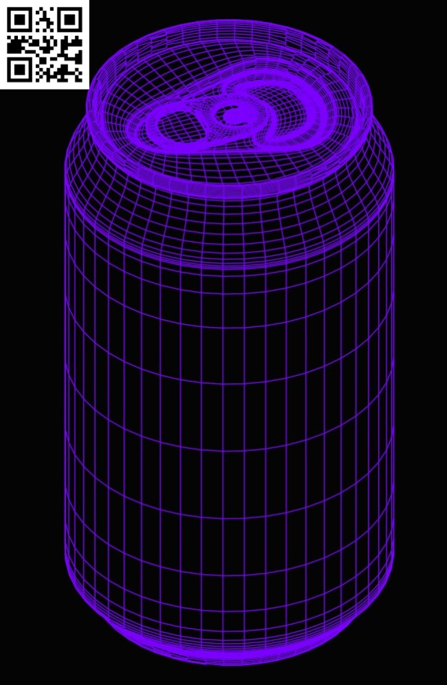 3D illusion led lamp Beer can E0015291 file cdr and dxf free vector download for laser engraving machine