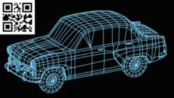 3D illusion led lamp Car E0015279 file cdr and dxf free vector download for laser engraving machine