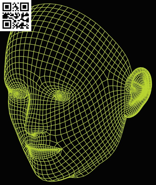 3D illusion led lamp Face E0015287 file cdr and dxf free vector download for laser engraving machine