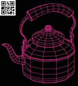 3D illusion led lamp Kettle E0015288 file cdr and dxf free vector download for laser engraving machine