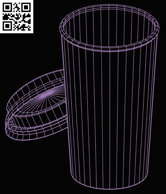 3D illusion led lamp cup E0015283 file cdr and dxf free vector download for laser engraving machine