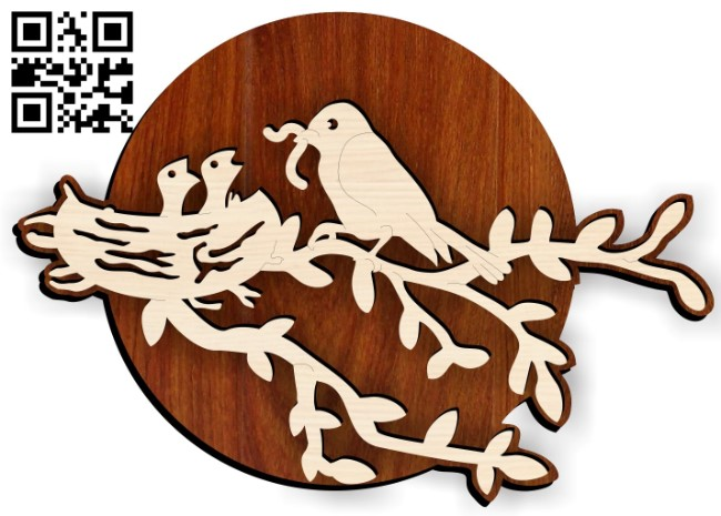 Birds E0015228 file cdr and dxf free vector download for laser cut