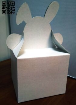 Bunny box E0015217 file cdr and dxf free vector download for laser cut