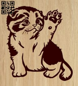 Cat E0015380 file cdr and dxf free vector download for laser engraving machine