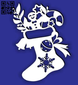 Christmas Socks E0015332 file cdr and dxf free vector download for laser cut plasma